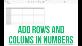 ADDING ROWS AND COLUMNS IN NUMBERS