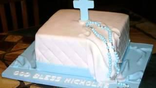 Good  DIY Baptism Cake Ideas