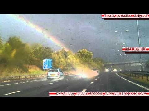 Fotografian el final de un Arco iris en Inglaterra