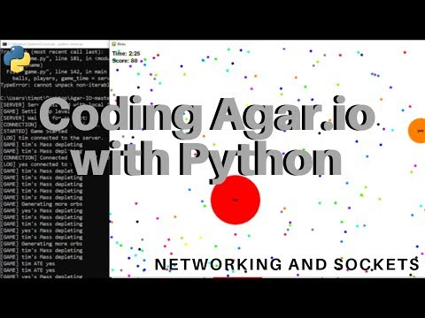 I coded Agar.io with Python (Using Sockets/Networking and Pygame)