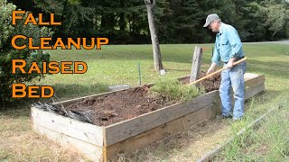 Raised Bed Fall Cleanup, Prepare your Garden for Winter