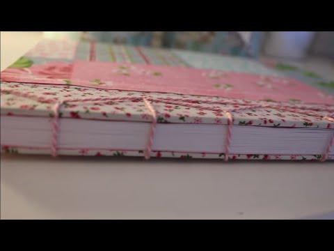 Buch selbst binden DIY Bulletjournal A4 BOOK Heft mit HARDCOVER nach japanischer Art I Einfachyvette