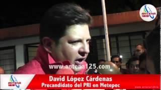 preview picture of video 'Ratifican a David López como precandidato en Metepec'