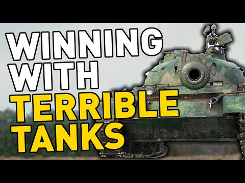 Winning with TERRIBLE Tanks in World of Tanks