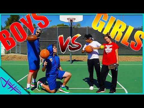 BOYS vs GIRLS Basketball Trick Shot H.O.R.S.E. Battle! PART 2