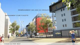 preview picture of video 'Annecy Pont-Neuf: aménagements 2015'