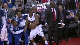 Chris Paul Flops Into His Own Bench