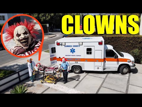 when you see clown paramedics with an Ambulance helping this injured Clown RUN! (Clown Hospital?)