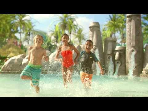 Young children running through pool at The Universal Orlando Resort