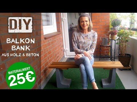 DIY: Balkonbank aus Holz & Beton - Never2Late
