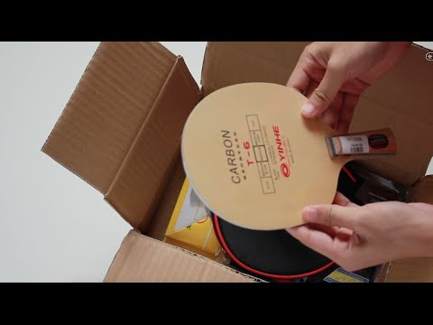 New Blade and rubbers Pingpong  [UnBoxing]