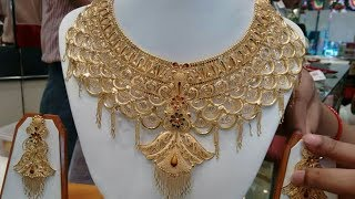 Latest Bridal Gold Necklaces   CHOKER   Designs With WEIGHT