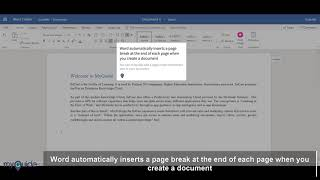 MyGuide: How to insert Page Break in Document in Word Online