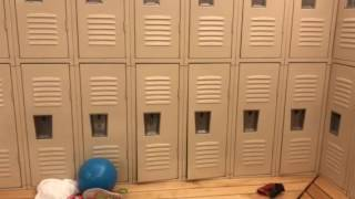 David and Max in the locker room