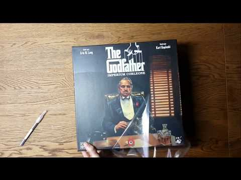 The Godfather: Corleone's Empire Board Game Unboxing