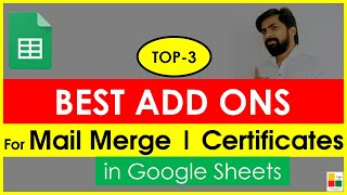 Best Add ons for Google Sheets: Formmule, Copydown and Autocrat||Mail Merge in Google Sheets