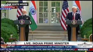 WATCH: President Trump Holds Press Conference With Indian Prime Minsiter (FNN)