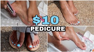 DIY $10 Pedicure Using Dollar Tree Items Only!