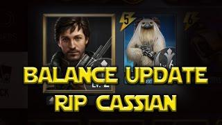 Star Wars: Force Arena - Balance Update RIP CASSIAN & GIGORAN