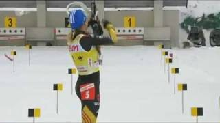 Биатлон, Нойнер стрельба наискосок кросс-файер