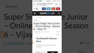 Super Singer junior 6 voting ? How??????????