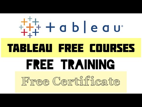 Tableau free courses | Free training with free certificate - YouTube
