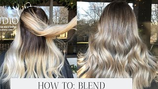 REVERSE BALAYAGE - HOW TO CONVERT ALL OVER BLONDE TO DIMENSIONAL BALAYAGE