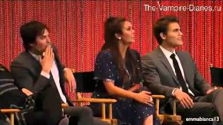 Иэн Сомерхолдер, Paleyfest 2014 - Vampire Diaries Panel - Paul the Director (русские субтитры)