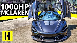 1000hp Gullwing Hoonage! McLaren 720S Sitting on TE37s Thrashes its Tires