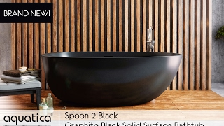 The Spoon 2 Graphite Black Solid Surface Bathtub - Infomercial