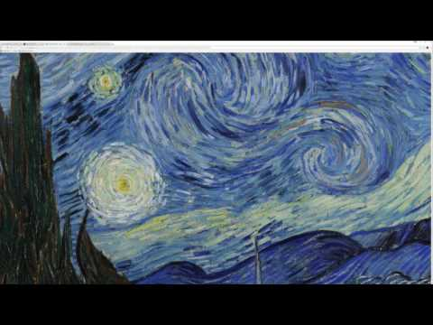 A still image of Vincent van Gogh's The Starry Night