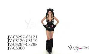 Deluxe Black Cat Romper Costume JV CS297 CS121