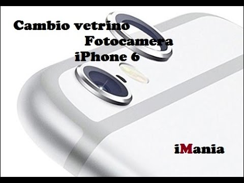 iPhone 6 cambio vetrino fotocamera camera lens replacement