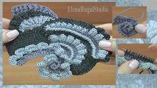 Learn Freeform Crochet Tutorial 30 Naučite Se Kvačkanje Freeform