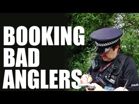 Police rod-licence patrol on British rivers