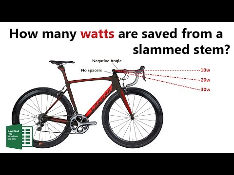 Stem Science! How many watts does a slammed stem save?