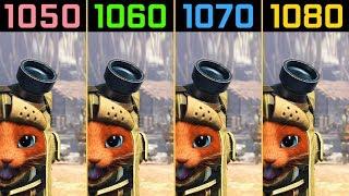 Monster Hunter World GTX 1050 Ti vs. GTX 1060 vs. GTX 1070 vs. GTX 1080