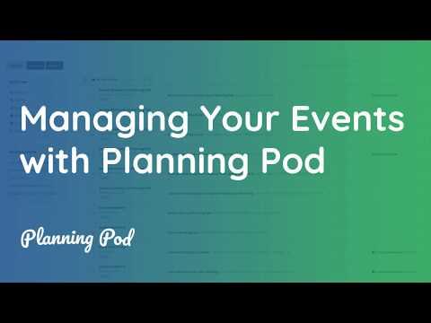 Event Management Software Tour - Online Event Planning Software Demo - Planning Pod