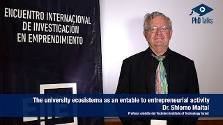 The university ecosystem as an enable to entrepreneurial activity