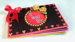 Valentine's Day Scrapbook | Tutorial | DIY | How To Make | Creative Craft By Punekar Sneha
