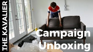 Campaign Loveseat Unboxing And Setup