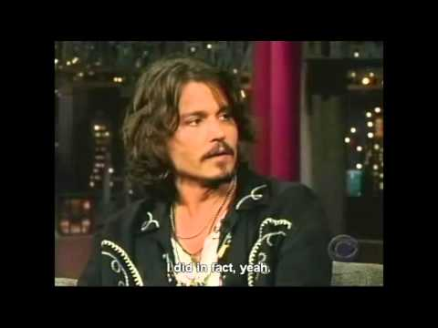 Letterman having a hard time with Johnny Depp