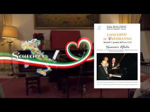 """Concerto di Capodanno 2019 – """" Souvenir d'Italie """" Il Tempietto Sala Baldini ( Roma )"""