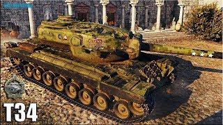 Лучший бой на Т34 прем танк 8 уровня World of Tanks