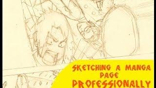 Sketching / Penciling a Manga Page Professionally