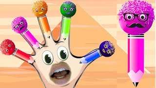 Colors Learn Cake Pop Pencil Learn Colors with finger family song nursery rhymes learning video