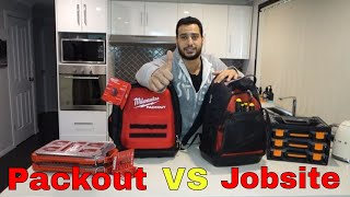 Milwaukee packout backpack vs jobsite - Review and comparison