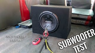 Pioneer TS-W261D4 Subwoofer in Sealed Box - BASS TEST