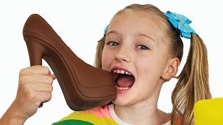 Шоколад и настоящее челлендж с Полиной