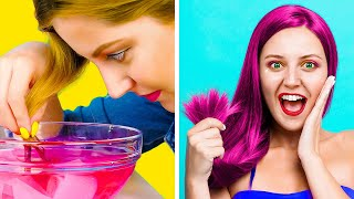 BRILLIANT IDEAS FOR GIRLS AND THEIR TROUBLES! || Easy DIY Beauty Hacks By 123 Go! Genius
